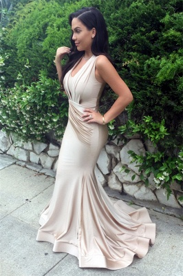 Designer Ruched Sleeveless Evening Dress UK Mermaid Floor Length BA3633_2
