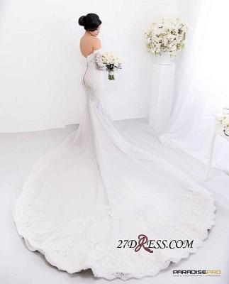 Lace Zipper Pearls Gorgeous Sweetheart Sexy Mermaid Wedding Dress_2