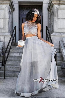 Two pieces prom Dress UK, silver evening gowns_3