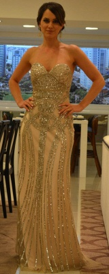Chiffon Sheer Formal Evening Gowns Dress UKes UK with Vestidos De Prom Sweetheart Vestidos Female Tulle Top Beaded_3