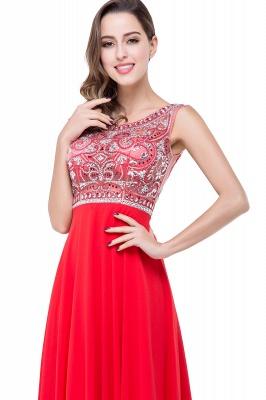 Elegant Red Long Crystal Beadings Prom Dress UK Chiffon_7