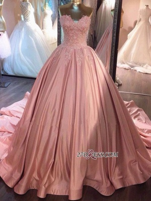 Sexy Sweetheart Lace-Applique Prom Dress UKes UK Long On Sale_4