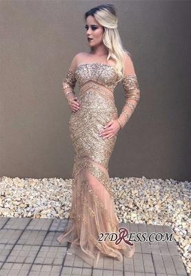 Long sleeve crystal prom Dress UK,formal Dress UKes UK online_2