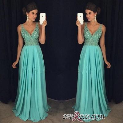 Long Beadings V-Neck Chiffon Sexy Prom Dress UK AP0_1