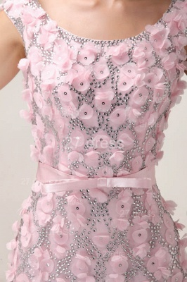 Pink Mermaid Prom Gowns Sash Bowknot Evening Dress UKes UK with Beadings_3