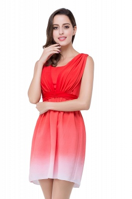 Luxury Ombre Short Prom Dress UK Sleeveless Bridesmaid Dress UK_3