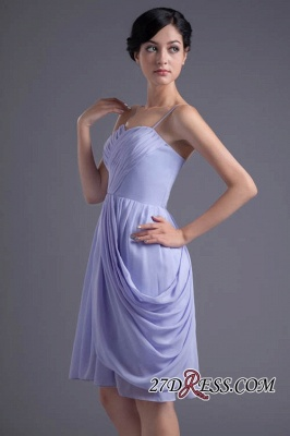 Sexy Online Ruffles Short Lavender Chiffon Spaghetti-Straps Bridesmaid Dress UKes UK_5