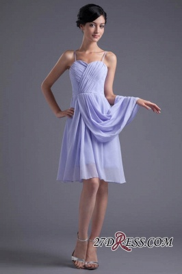 Sexy Online Ruffles Short Lavender Chiffon Spaghetti-Straps Bridesmaid Dress UKes UK_6