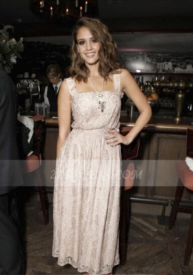 Jessica Evening Light Pink Chiffon Dress UK Alba Celebrity Square Sleeveless Appliques Chiffon Dress UKes UK_1