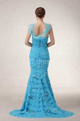 Luxury Blue Evening Dress UKes UK Tiered Sequined Mermaid Prom Gowns_4