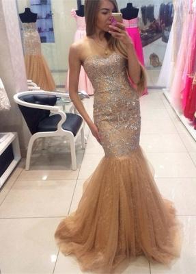 Gorgeous Sweetheart Beadings Mermaid Evening Dress UKes UK Tulle Zipper Back_4