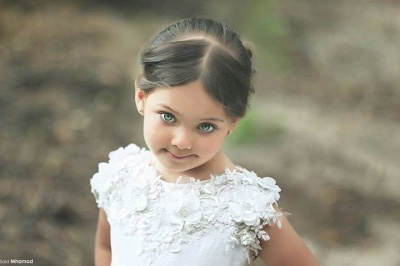 Lovely Bateau Cap Sleeve Tulle Girls Pageant Dress With Appliques Flower_2