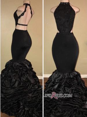 Elegant Black Mermaid Prom Dress UK Lace Party Dress UK Online BA7775_2
