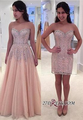Sweetheart Beads Lace Luxury Sleeveless Prom Dress UK_2
