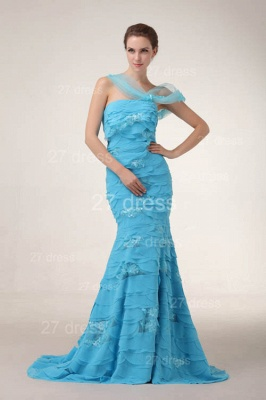 Luxury Blue Evening Dress UKes UK Tiered Sequined Mermaid Prom Gowns_2
