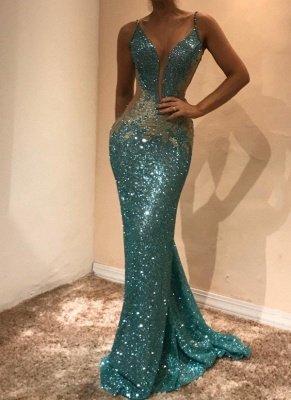 Gorgeous Sleeveless Sequins Evening Dress UK   Mermaid Prom Dress UK on Sale BA9598_1