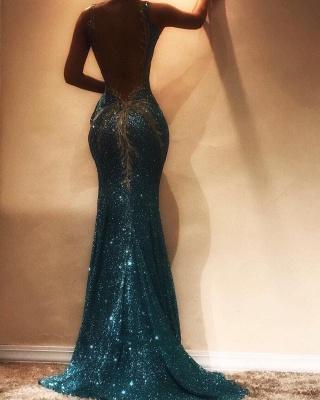 Gorgeous Sleeveless Sequins Evening Dress UK   Mermaid Prom Dress UK on Sale BA9598_3
