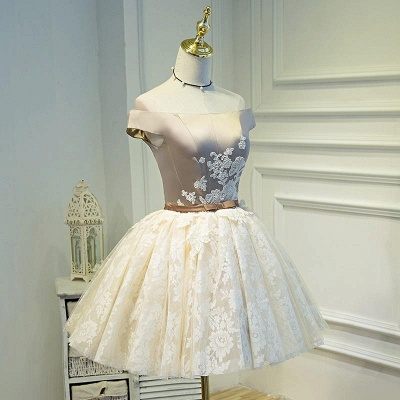 Lovely Off-the-Shoulder Homecoming Dress UK | Short Lace Party Dress UK_3