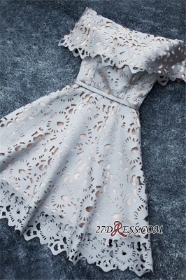 Lace Off-the-Shoulder Simple Short A-Line Homecoming Dress UK BA6832_2