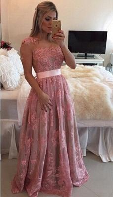 Gorgeous Lace Appliques A-line Prom Dress UK Beadings Bowknot_1