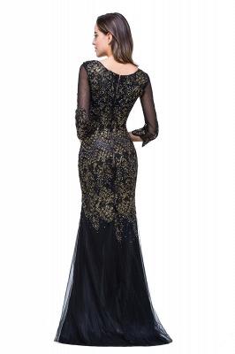 Elegant Black 3/4 Long Sleeve Mother Of the Bride Dress UK Mermaid With Appliques_2