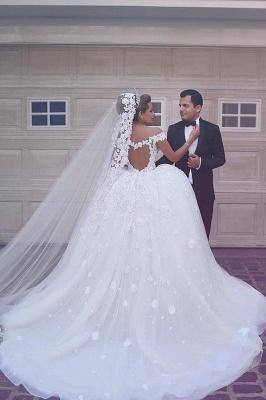 Gorgeous Off-the-Shoulder Detachable Lace Tulle Wedding Dress_4