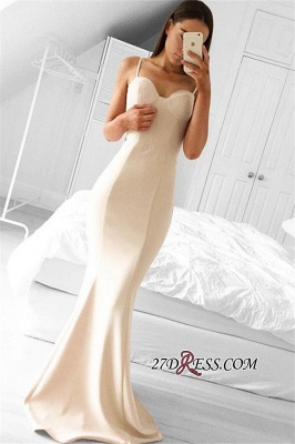 Spaghetti-Strap Mermaid Long Sleeveless Elegant Evening Gowns BA3871_2