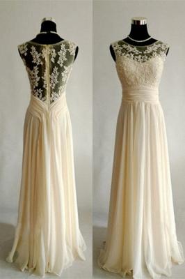 Sexy sleeveless lace appliques prom Dress UK long chiffon_1