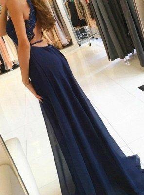 Sexy Sleeveless Evening Dress UK | Long Chiffon Prom Dress UK BA9626_3