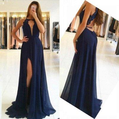 Sexy Sleeveless Evening Dress UK | Long Chiffon Prom Dress UK BA9626_4