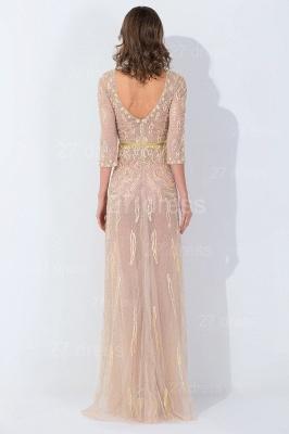 Modern Jewel Long Sleeve Evening Dress UK Floor-length Zipper_4