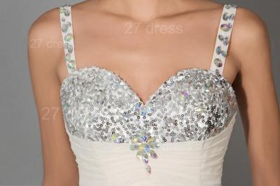 Modern Chiffon A-line Sequins Prom Dress UK Spaghetti Strap_4
