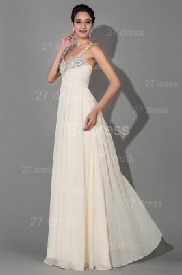 Modern Chiffon A-line Sequins Prom Dress UK Spaghetti Strap_2