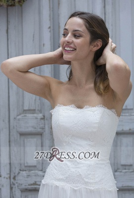 Sexy Straight Across Sleeveless Chiffon Prom Dress UK With Lace Floor-length_2
