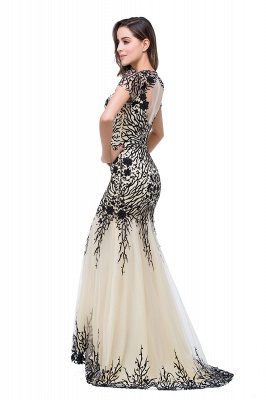Sparkly Cap Sleeve Mother Of the Bride Dress UK Appliques Mermaid Evening Gown_4