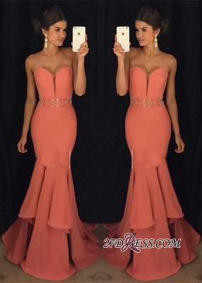 Sweetheart Gorgeous Ruffles Mermaid Beadings Evening Dress UK BA4870_2