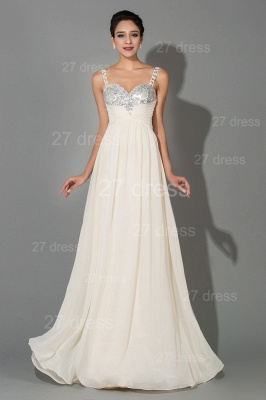 Modern Chiffon A-line Sequins Prom Dress UK Spaghetti Strap_1