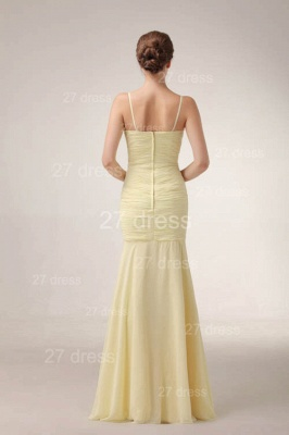 Sexy Yellow Mermaid Evening Dress UKes UK Spaghetti Straps Beadings Prom Gowns_4