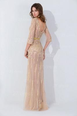 Modern Jewel Long Sleeve Evening Dress UK Floor-length Zipper_3