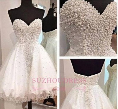 Open-Back Short A-Line Gorgeous Sweetheart Crystal Homecoming Dress UK_1