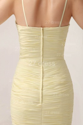 Sexy Yellow Mermaid Evening Dress UKes UK Spaghetti Straps Beadings Prom Gowns_6