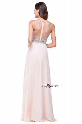 Chiffon Sleeveless Light-Champagne Long Crystals Prom Dress UKes UK BA6131_5