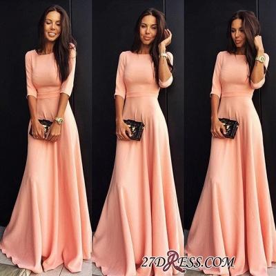 A-line Jewel Sexy Half-sleeve Chiffon Prom Dress UK SP0361_1
