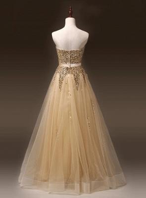 Newest Sweetheart Sleeveless Sequins Evening Dress UK Zipper Floor-length TB0004_2