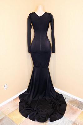 Long-sleeve v-neck prom Dress UK, evening Dress UK with beadings BA8203_4