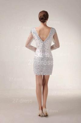 Mini V-Neck Sheath Homecoming Dress UKes UK Long Sleeve Crystal Cocktail Gowns_4