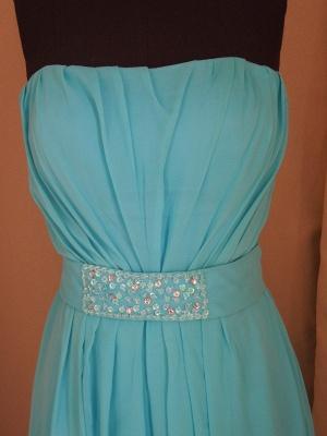Evening Elegant Prom Dress UKes UK Blue Beading Sashes Strapless Sheath Dress UKes UK_3