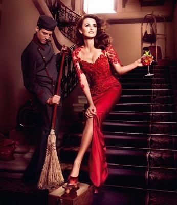 Hot Sale Red Lace Chiffon Evening Party Dress UKes UK Short Sleeve Prom Dress UKes UK on sale_4
