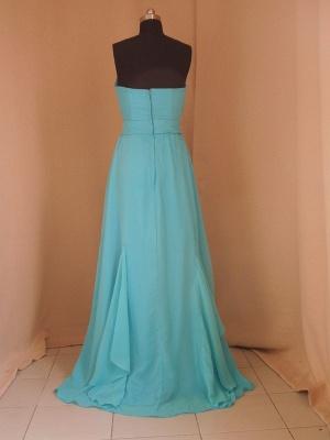 Evening Elegant Prom Dress UKes UK Blue Beading Sashes Strapless Sheath Dress UKes UK_2
