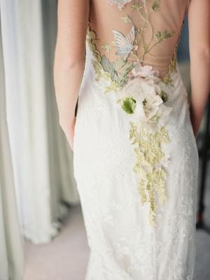 Newest Bodycon Cap Sleeve Wedding Dress V-neck Lace_3
